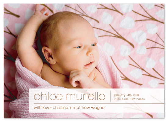birth announcements - Simple Modern by Christine Wagner