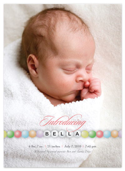 birth announcements - A Little Bling by Lisa Razza