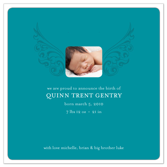 birth announcements - Baby wings by Molly Holland