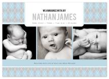 Argyle Welcome Baby Boy by .Laura Hippe.