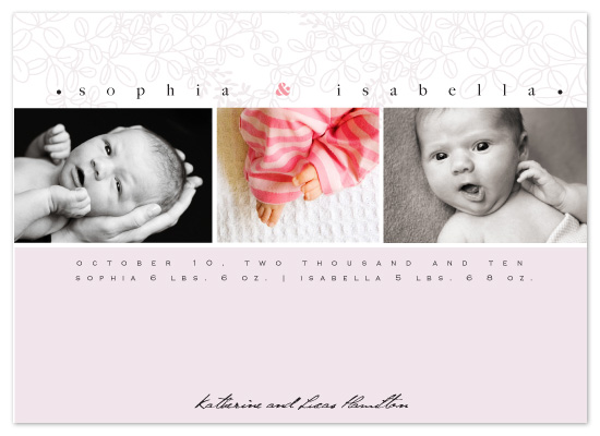 birth announcements - Baby Blossons by Raquel Salaro