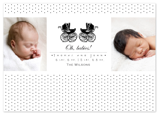 birth announcements - Vintage Polka Dots by Raquel Salaro