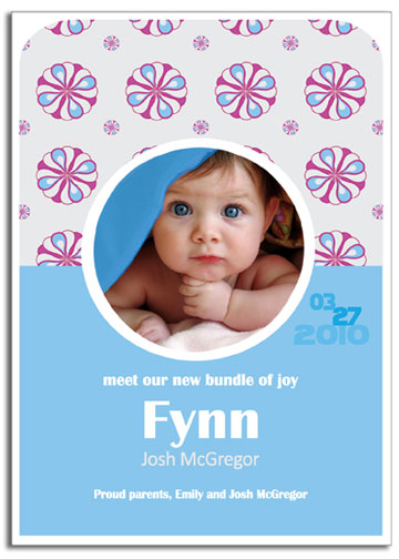 birth announcements - Peppermint Dreams Birth Announcement by Lisa Saliture
