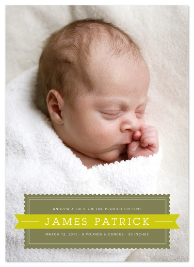 birth announcements - Stamp & Banner by Dish and Spoon
