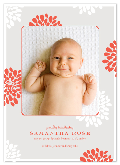 birth announcements - may flowers by SimpleTe Design