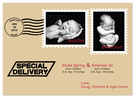 birth announcements - Special Delivery by Jen Wheat