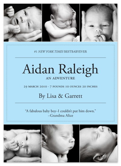 birth announcements - Baby Book Club by Andie Douglas
