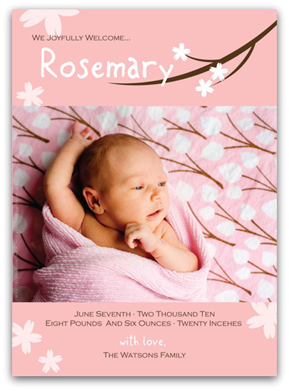 birth announcements - Cherry Blossom Birth Announcement by Everyday Greeting
