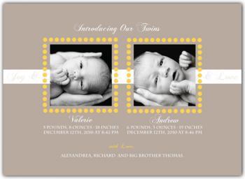 Precious Dots Birth Announcement