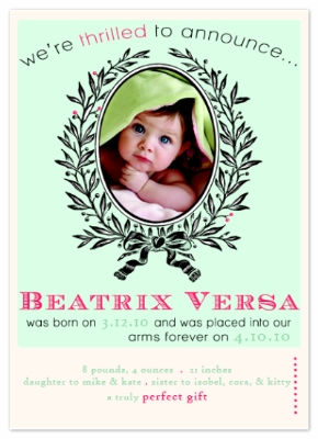 birth announcements - a truly perfect gift by kea brooks