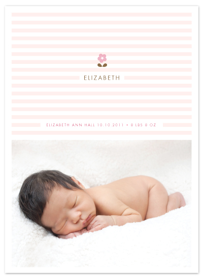 birth announcements - daisy and stripe by kelli hall