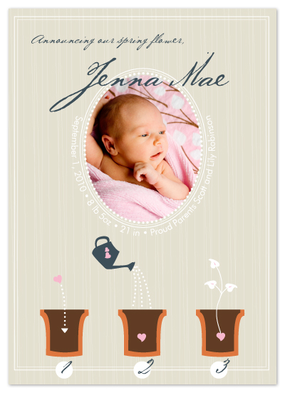 birth announcements - how to grow love in 3 easy steps by roxanne chang