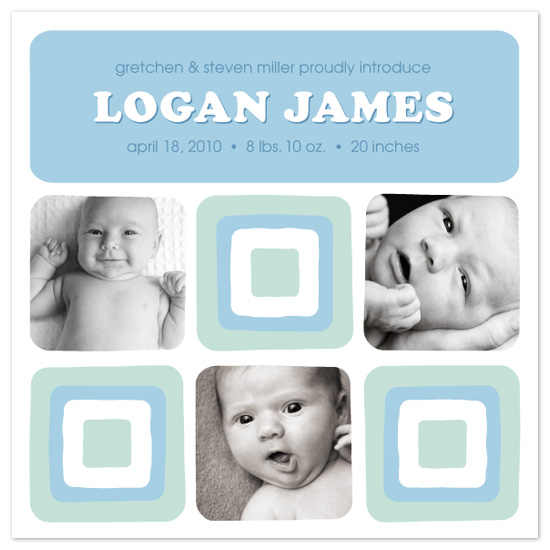 birth announcements - Modern Blocks by TanFish