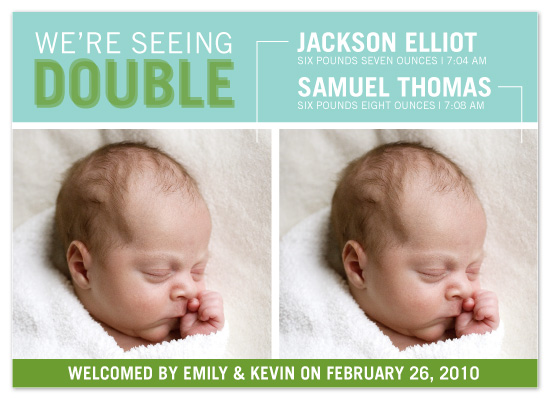 birth announcements - Seeing Double by Amy Roff