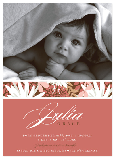 birth announcements - Flower Child by Ten26 Design Custom Invitations