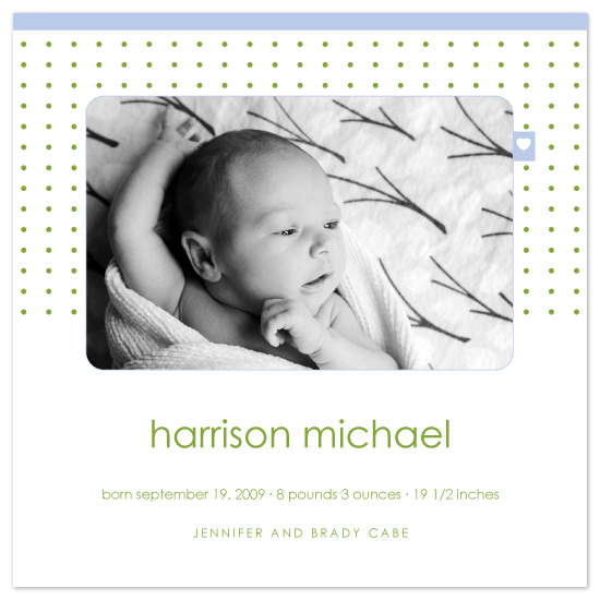 birth announcements - tagged with love by SimpleTe Design