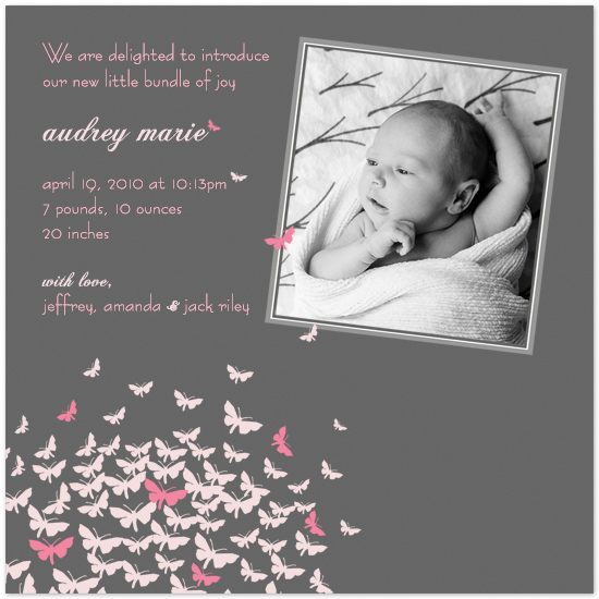 birth announcements - Butterfly Kisses by MAGG + LOUIE