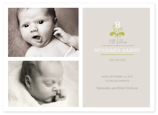 birth announcements - our little sprout by Karen Glenn