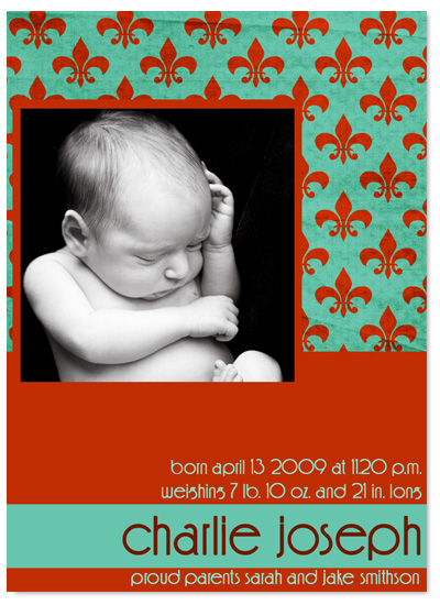 birth announcements - Bold Beginnings by Christy Vance