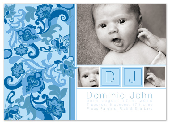 birth announcements - Little Boy Blue by Kristie Litchfield