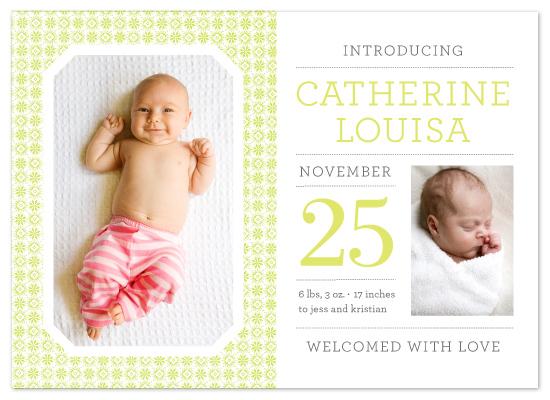 birth announcements - Mini Magazine by cambria