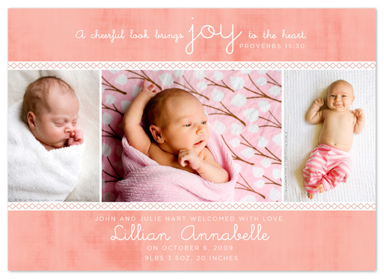 birth announcements - A Cheerful Look by Jessica Bishop