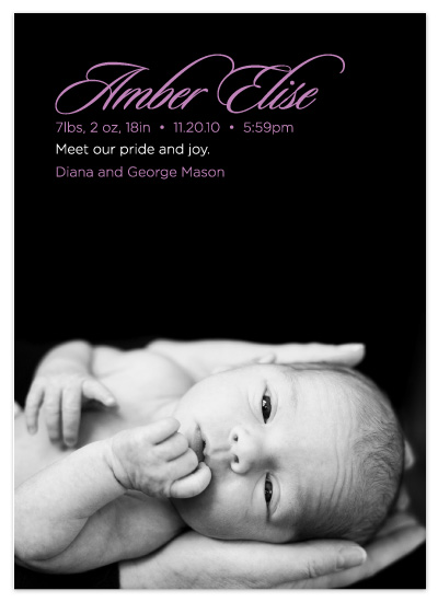 birth announcements - pride + joy by Lucy Limelight