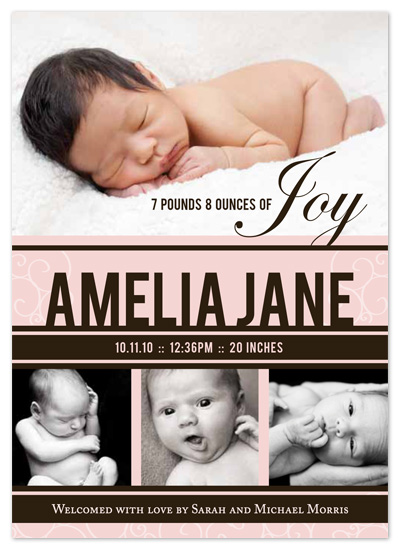 birth announcements - Pounds of Joy Girl by .Laura Hippe.