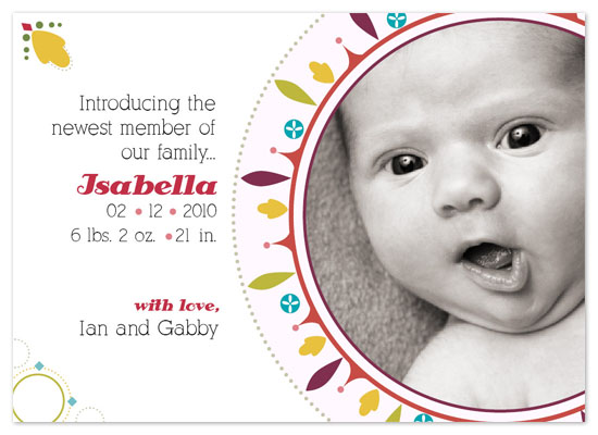 birth announcements - Family Jewel by Studio Celeste