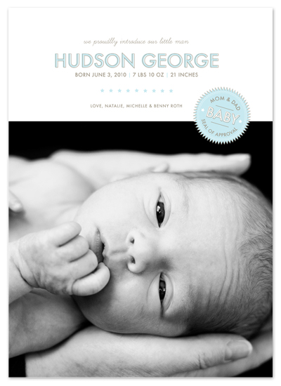 birth announcements - seal of approval by The Social Type