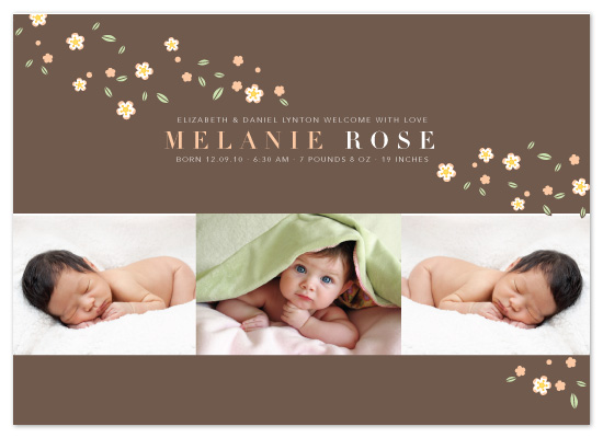 birth announcements - Pretty Blossoms by Coco and Ellie Design