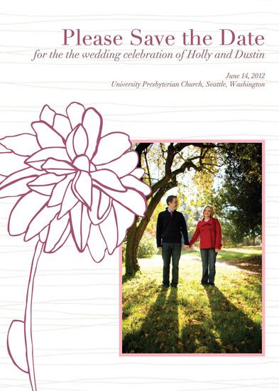 save the date cards - Modern garden by Julia Destrampe