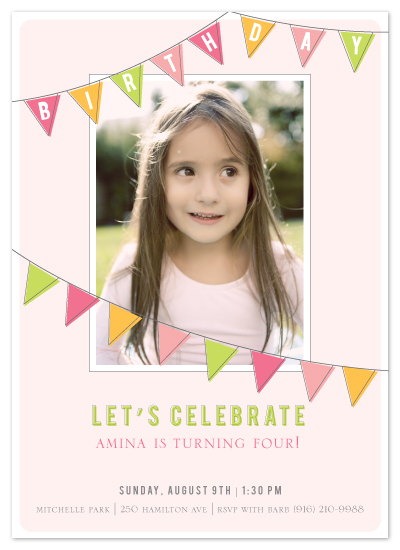 birthday party invitations - Fun Flags by SimpleTe Design