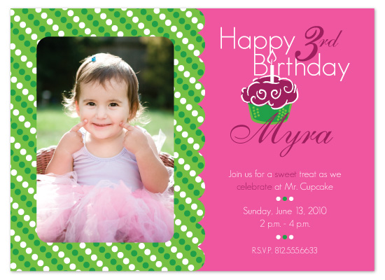 birthday party invitations - A Sweet Treat by melmade