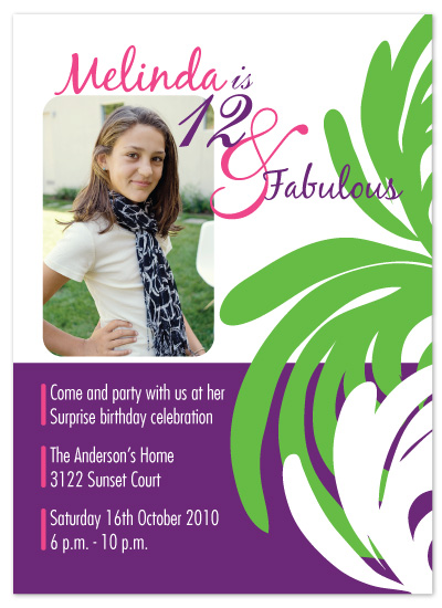 birthday party invitations - Fun and Fabulous by melmade