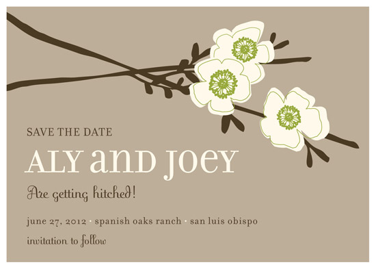 save the date cards - apple blossom by annie clark