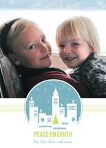 holiday photo cards - holiday in the city by Oscar & Emma