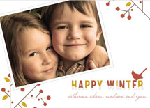 holiday photo cards - winter berries by Oscar & Emma