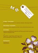 menu cards - Charmed by Oscar & Emma