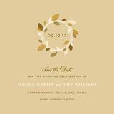 save the date cards - autumn wreath by Oscar & Emma