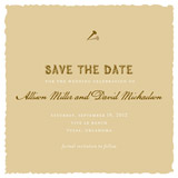 save the date cards - posted by Oscar & Emma