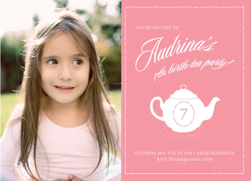 birthday party invitations - Birth-Tea Party! by Junefille