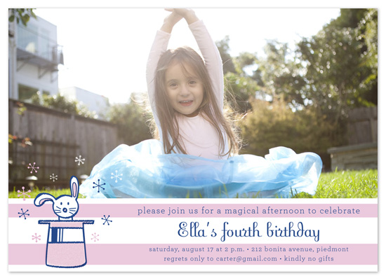 birthday party invitations - Magical Bunny by Alison Michael