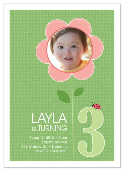 birthday party invitations - Layla's Garden by Amy Sheridan