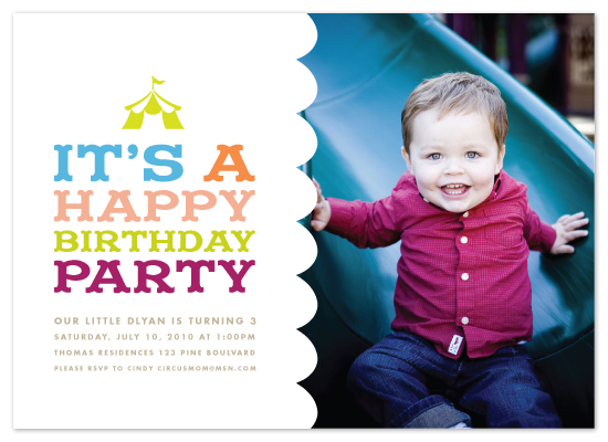 birthday party invitations - Circus Tent by Paper and Parcel