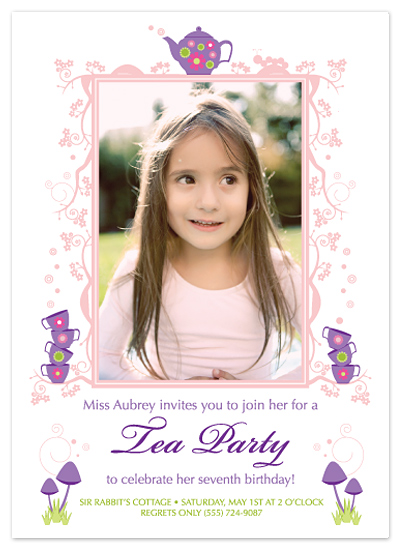 birthday party invitations - Whimsical tea party by Brandy Kesl l ABK design