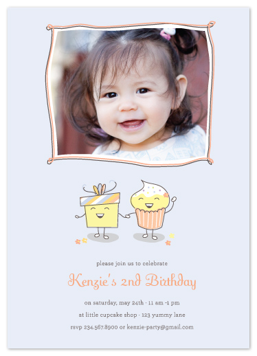 birthday party invitations - Little Miss Cupcake  by Coco and Ellie Design