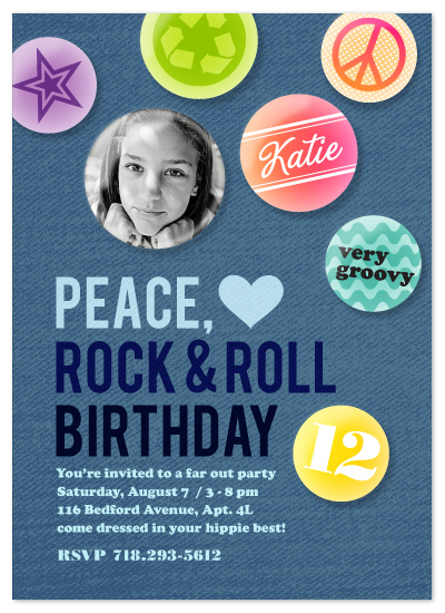 birthday party invitations - Peace, Love, Rock & Roll at ...