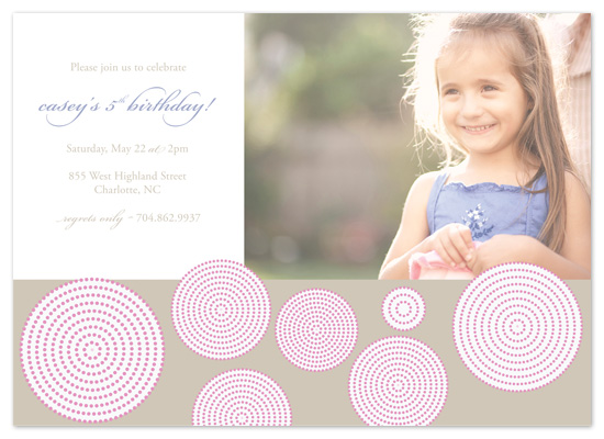 birthday party invitations - Bubble & Whimsy by Cami