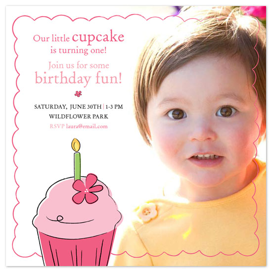 birthday party invitations - Little Cupcake by Laura Hannah